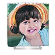 Portrait Of Little Girl. Shower Curtain