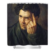 Portrait Of Lord Byron Shower Curtain