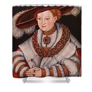 Portrait Of Magdalena Of Saxony, Wife Of Elector Koachim II Shower Curtain