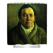 Portrait Of Nikolay O Ge Artist Father Shower Curtain