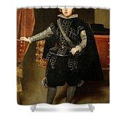 Portrait Of Philip Iv  Shower Curtain