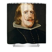 Portrait Of Philip Iv  King Of Spain  Shower Curtain