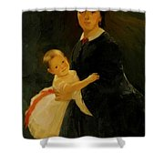 Portrait Of Shestova With Daughter Shower Curtain
