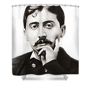 Portrait Of The French Author Marcel Proust Shower Curtain