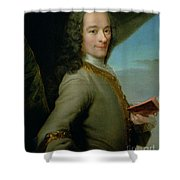 Portrait Of The Young Voltaire  Shower Curtain
