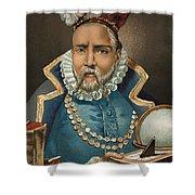 Portrait Of Tycho Brahe Shower Curtain