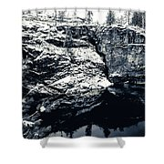 Post Falls Park In Snow  Shower Curtain