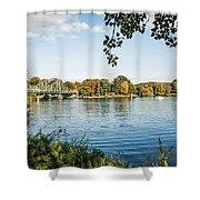 Potsdam - Havel River / Glienicke Bridge Shower Curtain