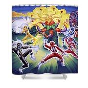 Power Rangers Art Shower Curtain