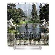 Powerscourt House Terrace And Fountain Shower Curtain