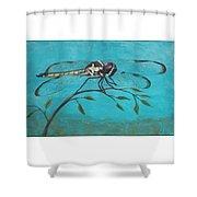 Praying Dragonfly Shower Curtain