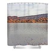 Prescott Arizona Watson Lake Hills Mountains Rocks Water Grasses Cloudy Sky 3142019 4920 Shower Curtain