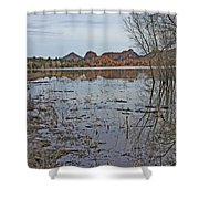Prescott Arizona Watson Lake Sky Clouds Hills Rocks Trees Grasses Water 3142019 4920 Shower Curtain