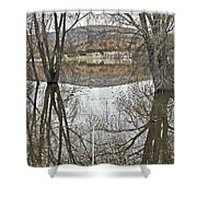 Prescott Arizona Watson Lake Trees Reflections Hill Rocks 3142019 4921 Shower Curtain