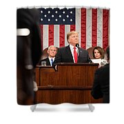 President Donald J. Trump Delivers His State Of The Union Address At The U.s. Capitol 2 Shower Curtain