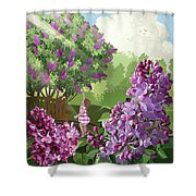 Print Shower Curtain by Clint Hansen