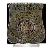 Prohibition Agent Badge Shower Curtain