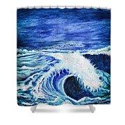 Promethea Ocean Triptych 1 Shower Curtain