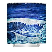 Promethea Ocean Triptych 2 Shower Curtain