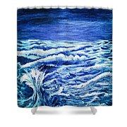 Promethea Ocean Triptych 3 Shower Curtain
