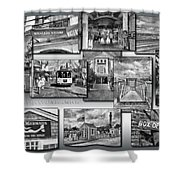 Provincetown Cape Cod Massachusetts Collage Pa Bw Shower Curtain