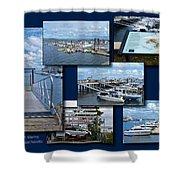 Provincetown Marina Cape Cod Massachusetts Collage Shower Curtain