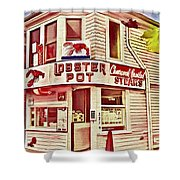 Provincetown Tradition Lobster Pot Shower Curtain