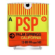 Psp Palm Springs Luggage Tag I Shower Curtain