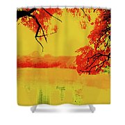 Psychedelic Lake Shower Curtain