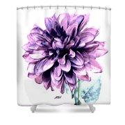 Purple Blend Petals Two Shower Curtain