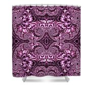 Purple Lilac Gardens And Reflecting Pools Fractal Abstract Shower Curtain by Rose Santuci-Sofranko