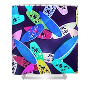 Purple Waters Shower Curtain