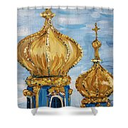 Pushkin Palace Towers Shower Curtain by Maria Langgle
