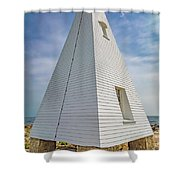 Pyramid Bell Tower Maine Shower Curtain