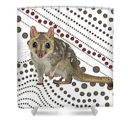 Q Is For Quoll Shower Curtain