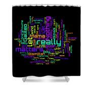 Queen - Bohemian Rhapsody Lyrical Cloud Shower Curtain