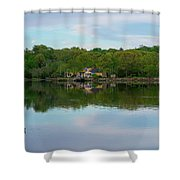 Quiet Evening By The River Shower Curtain by Michael Hope