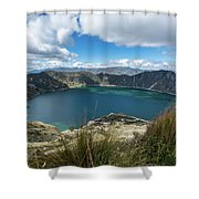 Quilotoa Crater Lake Shower Curtain