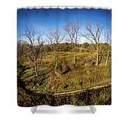 Raceway Woods Shower Curtain