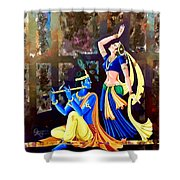 Radhakrishna Shower Curtain