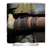 Radial Engine Exhaust Shower Curtain