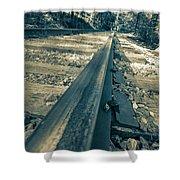 Rail Away  Shower Curtain
