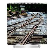 Railroad Siding Tracks Shower Curtain