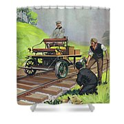 Railway Automobile Shower Curtain