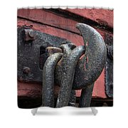 Railway Coupling Hook Shower Curtain