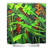 Rain Forest Memories Shower Curtain by Linda Feinberg