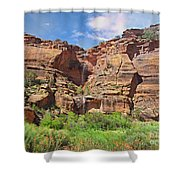 Rain Waterfall Off The Standstone Shower Curtain