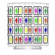 Rainbow Gender Men Women Study Shower Curtain