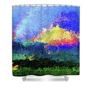 Rainbow Mountain - Breaking The Gridlock Of Hate Number 5 Shower Curtain