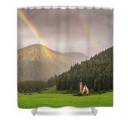 Rainbow Over St  Johann Shower Curtain by James Billings